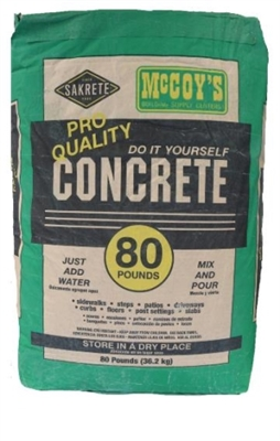 Shop Concrete Mix 80 LB at McCoy's