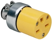 Yellow 15 Amp 125 Volt 3 Wire Armoured Plug