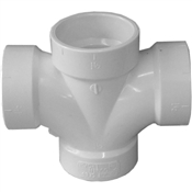 "1-1/2"" PVC-DWV Double Sanitary Tee (All Hub)"