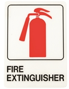 HY-KO D-16 Graphic Sign, Fire Extinguisher, Black Legend