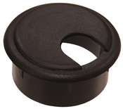 "Black Plastic Desk Grommet with Cap (1-3/4"")"