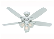 "52"" Builder Plus Ceiling Fan, White"