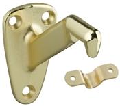 Handrail Bracket, Bright Brass, 2 Piece
