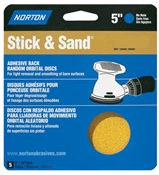 "5"" 80 Grit Stick & Sand Disc - 5 Pack"