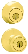 Tylo Entry Lockset With Deadbolt - Polished Brass