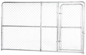 10' x 6' Chain Link Kennel Panel with Gate