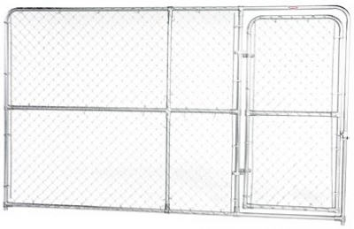 Shop 10 X 6 Chain Link Kennel Panel With Gate At Mccoy S