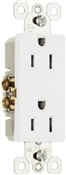 White 15 Amp 125 Volt Decorator Receptacle 10 Pack