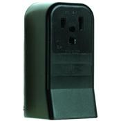 Black 50 Amp 250 Volt Surface Mount 3 Wire Outlet