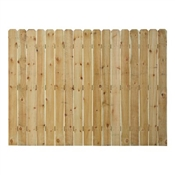 6x8 Treated Premium Fence Panel 1x6