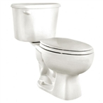 Colony Elongated Front Toilet, White