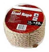 "1/4"" Twisted Sisal Rope 100'"