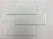4 x 12 Subway Tile, Gloss White