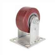 Prosource JC-P01 Rigid Caster, 4 in Dia x 2 in W Wheel, 350 lb Weight Capacity, Polyurethane Wheel