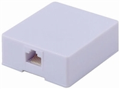 Cat 5/6, RJ45, White, Surface Mount