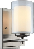 El Dorado 1 Light Wall Sconce, Satin Nickel Finish