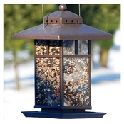 "Audubon, 11"" Metal Square Lantern Bird Feeder"