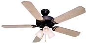 "Palladium 52"" Tri-Mount Ceiling Fan - Classic Bronze With Light Kit"
