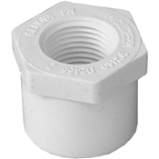 "1""x1/2"" Slip x Thread Bushing Schedule 40 PVC"