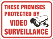 SIGN PROTECTED BY VIDEO SURVE
