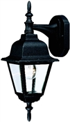 1 Light Textured Black Coach Lantern Outdoor Wall Fixture