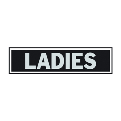 SIGN LADIES PRINCES 2X8IN ALUM