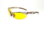 Forerunner Camouflage Half Frame Sunglasses With Amber Lens