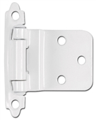 "3/8"" Offset Self-Closing Cabinet Hinge - White"
