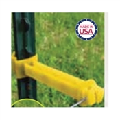 PATRIOT 820022 Wrap Around T-Post Extender Insulator, HDPE, Yellow