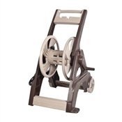 AMES Reel Easy Hose Cart, 175 ft L Hose, 22 in W X 23 in D X 24 in H, Poly, Tan and Brown
