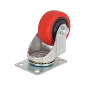 Prosource JC-383-G Swivel Caster with Brake, 3 in Dia Wheel, 176 lb Weight Capacity, Polyurethane Wheel