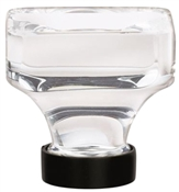 1-3/8 in (35 mm) Length Knob - Clear/Black Bronze