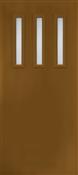 3068L 3 Lite Vertical 842 Frosted Fiberglass Singlehung Door