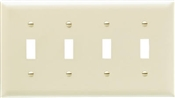 Ivory Urea 4 Gang Toggle Plate