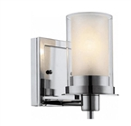 Avalon 1 Light Wall Sconce, Chrome Finish