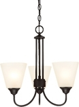 Galveston 3 Light Chandelier, Black Finish