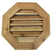 "18"" Octagon Cedar Louver with 1x4 Trim"