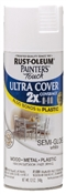 2X Painter's Touch Spray Paint Semi Gloss White