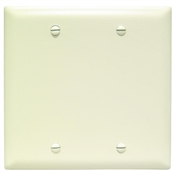 Almond Nylon 2 Gang Blank Center Plate