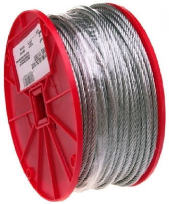 "3/32"" Cable Uncoated Galvanized 500'"