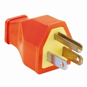Orange 15 Amp 125 Volt Heavy Duty 3 Wire Plug
