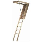 "25-1/2"" x 54"" to 8' 9"" 250# Short Wooden Attic Ladder"
