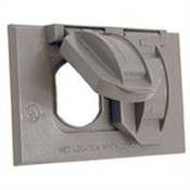 One Gang Duplex Receptacle Cover - Gray