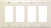 Almond Nylon 4 Gang Decorator Plate