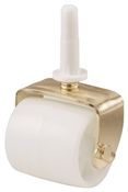 Shepherd Hardware 9535 Bed Roller, 2-1/8 in Dia Wheel, 125 lb, White