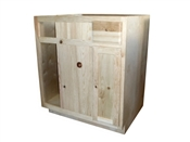 "36"" Unfinished Pine Blind Base Cabinet"