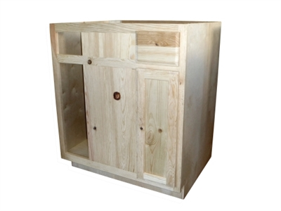 42 Unfinished Pine Blind Base Cabinet, 42 Inch Tall Unfinished Wall Cabinets