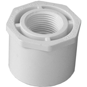 "1-1/2""x3/4"" Slip X Thread Bushing Schedule 40 PVC"