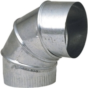"7"" Galvanized Vent Pipe Elbow"