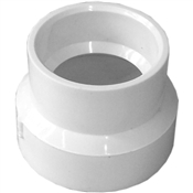 "2""x1-1/2"" PVC-DWV Reducing Coupling (HubxHub)"